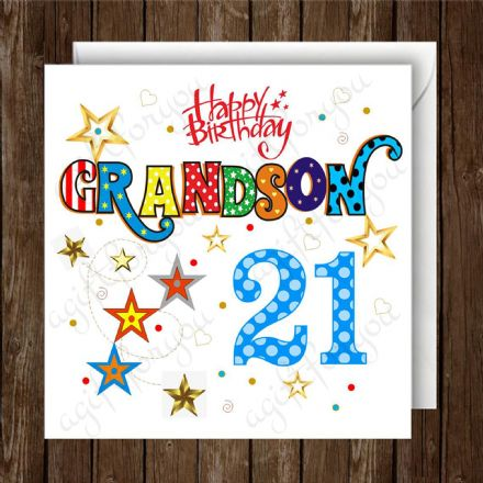Personalised Grandson Birthday Card Any Age